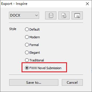 FWW novel submission style inspire writer