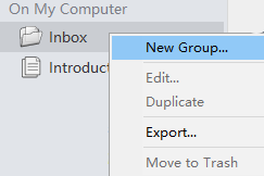 Create a new group in Inspire.
